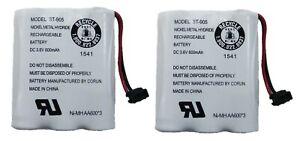 Uniden BT-905 Rechargeable Cordless Handset Telephone Battery 3.6V 600mAh 2-Pack