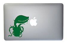 Carnivorous Plant Monster - 5 Inch Green Vinyl Decal for Macbook