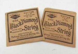 VINTAGE BLACK DIAMOND GUITAR STRINGS - No. 740 and No. 743
