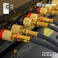 4 Pack / 2 pair Hi-Fi 4mm EDGE Banana Plugs (Speaker /Amplifier connectors) BP1