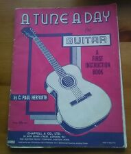 A TUNE A DAY FOR GUITAR A FIRST INSTRUCTION RETRO BOOK