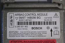 #005 FORD FOCUS C-MAX 2004 AIRBAG CONTROL MODULE ECU P/N 3M5T14B056BG