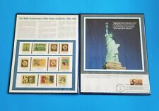 Statue Of Liberty 100th 1886-1986 Commemorative Stamp Set With First Day Issue