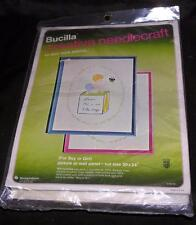 VTG 1980'S UNOPENED BUCILLA NEEDLECRAFT EMBROIDERY KIT New Arrival Baby BOY GIRL