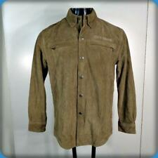 HARLEY-DAVIDSON Motorcycles HEAVY Suede Leather JACKET Mens Size S Brown