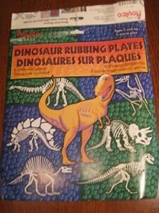 Dinosaur Rubbing Plates 6 Plates total By  Roylco With Instructions Kids 5 yrs +