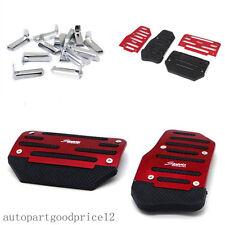 2x Red Car Automatic Transmission Non-Slip Foot Treadle Brake Accelerator Pedal
