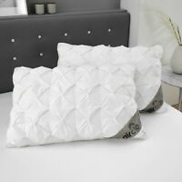 New Luxury Waffle Pintuck Alexandra Pillow 48 x 74 cm +2.5 cm 100% Cotton 300TC