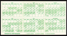 Oakland Athletics _Rare_ 1975 Home Pocket Schedule Vtg Mlb Promo A's media guide