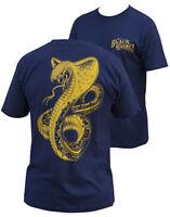 NWT Black Market Art Company Mens GOLDEN COBRA Tee Shirt NAVY BLUE SMALL-3XLARGE