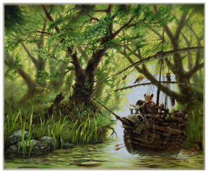 'Redwall' colour print: 'Wuddship' from Brian Jacques 1980's series
