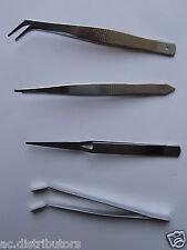 4 TWEEZERS Stainless Steel Tweezer Tool Kit - Gr8 Modelling Tool Set