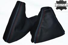 Para Bmw E39 M5 5 Stitch Cuero 1995-2003 Manual polainas Cambio Bota Freno De Mano