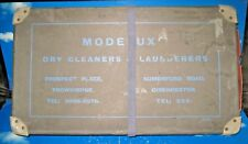 VINTAGE LAUNDRY DRY CLEANING LAUNDERERS BOX MODELUXE