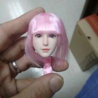 "1/6 SDH015B Female Head Sculpt Model Fit 12"" Action Female Figure Body"