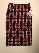 LULAROE NWT CASSIE SKIRT LARGE - Black , Orange , Purple