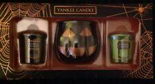Yankee Candle Official Halloween Pumpkin Head Votive Holder Gift Box Set RARE