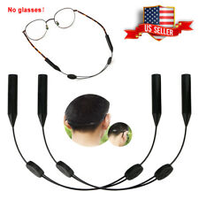 2x Glasses Strap Neck Cord Sports Eyeglasses Band Sunglasses Rope String Holder