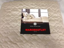 Hotel Collection Celestial KING Quilted Coverlet Beige