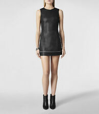 "**NEW ""ALLSAINTS"" BLACK LEATHER ""RAMONA"" DRESS Size 10 (US) w TAGS!"