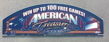 Bally Patriotic Slot Machine Glass AMERICAN TREASURES