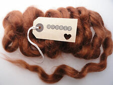30g(approx. 1oz) MOHAIR. Warm Brown - Waves