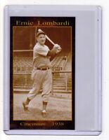 ERNIE LOMBARDI, '38 CINCINNATI REDS HALL OF FAME CATCHER, NL BATTING CHAMPION