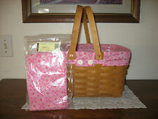 NEW Longaberger HOH/Pink Passion Coordinate Liner 4 Your Medium Market Basket
