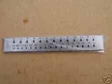drawplate 8..inch long...30 tear-drop shaped holes