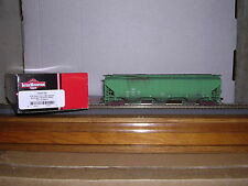 "INTER.#45337 B.N.""Green"" Ribbed Side 3-Bay Cov.Hopper Car #449273 Weath. H.O."