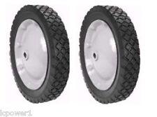 """[ROT] [8962] (2)Steel Wheel Assemblies 1-3/4"""" Offset Hub Snapper 7035726"""