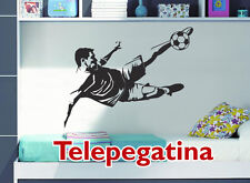VINILO DECORATIVO PARA PARED - FUTBOLISTA -75x40  - WALL STICKER - FUTBOL