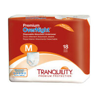 Tranquility Premium Overnight Absorbent Brief, MEDIUM 34''-48'' -18/Pack
