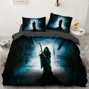 3D Grim Reaper Treppen ZHUC1800 Bett Kissenbezüge Decke Bettdecke Abdeckung Set