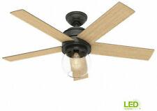 Hunter Leander Ceiling Fan 46 in. LED Indoor Noble Bronze Light Kit Remote