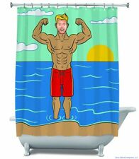 """MUSCLE BUFF MAN - Funny Gag """"Fill in Face"""" Shower Curtain - BigMouth Inc."""