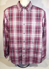 Paradise Collection Long Sleeve Size Large Button Front Rayon/Polyester Blend