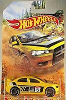 2019 Hot Wheels #2 RALLY SPORT RACING '08 LANCER EVOLUTION Yellow w/Black Pr5 Sp