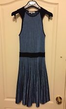 OPENING CEREMONY Ribbed Stretch Knit 2 Tone Blue Woman's Dress Small $495