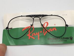 Ray ban B Bausch Lomb USA True Vintage Outdoorsman Aviator Black 56-14 Medium