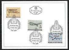 a290 ÖSTERREICH/ Gedenk-Faltkarte zur IFA-Wien mit MiNr 1262/64 Ersttagstpl