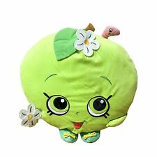 "Shopkins Green APPLE BLOSSOM Plush Pillow Stuffed Toy 12"" Moose Enterprise"