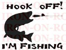 FUNNY FISHING DESIGN A4 IRON ON TSHIRT TRANSFER 11x8 T SHIRT TRANSFER A4