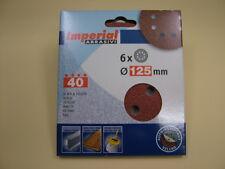 Sanding discs hook&loop random orbit sander 125mm pack 6, 40 grit,European made