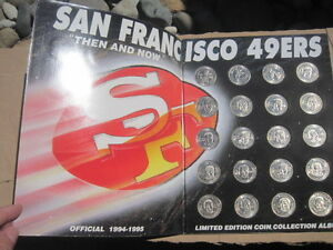 1994-1995 49ers Then and Now Limited Edition Coin Collection Album! A Rare Find!