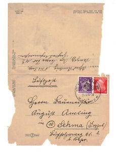 Faltbrief Luftpost DANZIG 21.3.1945 Zeitzeugnis !