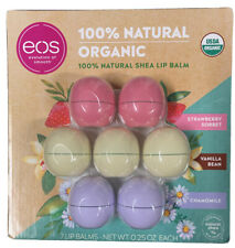 Eos USDA Organic Lip Balm 7 Spheres Strawberry 🍓 Sorbet Vanilla Bean Chamomile