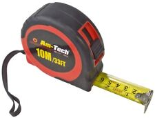 10m Measuring Tape Auto Power Return Rubber Grip Belt Clip Wrist Strap Toolbox