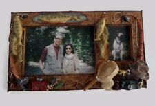 New Fisherman Themed Double Picture Frame 4X6 And 2X3 Highly Detailed B