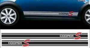Vinyl side stripes for Mini Cooper S - genuine high quality decals